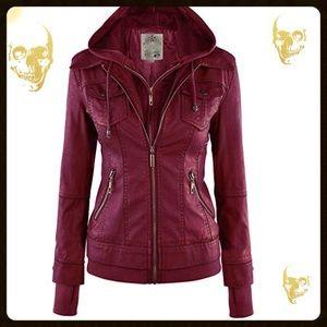 Jackets & Blazers - 🥰🍸🥰BNWT WINE RED MOTO JACKET🥰🍸🥰